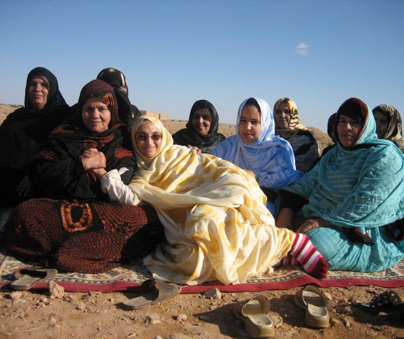 Aminatou Haidar et al. sitting posing for the camera